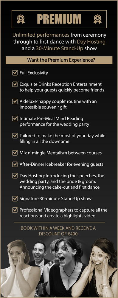 Shane Black Wedding Magician Premium Wedding Entertainment Package