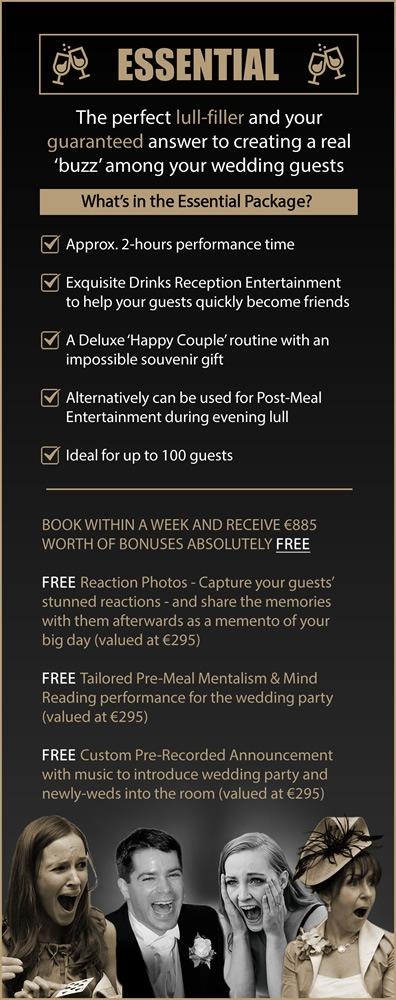 Shane Black Mentalist Essential Wedding Magician Entertainment Package