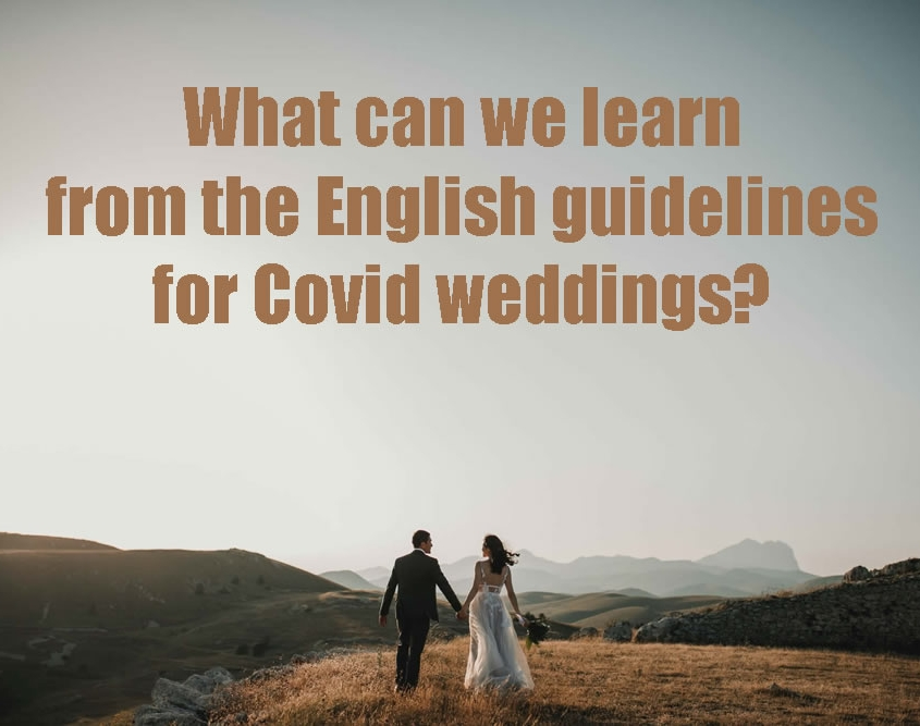 What can we learn from the English guidelines for Covid weddings?