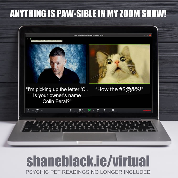 Shane Black - Mentalist now offering virtual entertainment