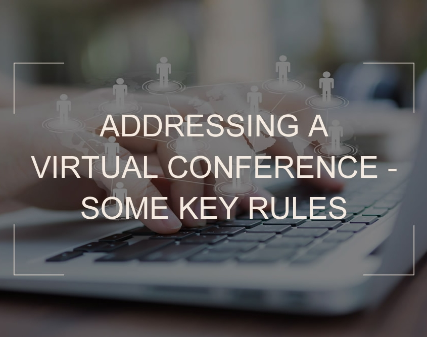 Tips on addressing a virtual conference - Shane Black Magician blog